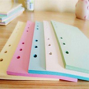 A6 Sechs-Loch-Lose-Blatt-Notebook innerer Kern 5-Farben-Multi-Wahl individuelle Ersatzseite Handbuch mit farbigen Innenseite A07