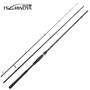 Tsurinoya Tyrants 2.4m 2.7m 3.0m 3.3m Carbon Fishing Sea Bass Distance Throwing Spinning Rod Fuji Guide Reel Seat