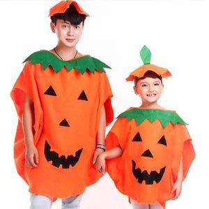 Cadılar Bayramı Kostüm Karikatür Kabak Şapka Giyim Seti Çocuk Yetişkin Kabak Kostüm Halloween Cosplay Parti Dekorasyon Prop DBC VT0849