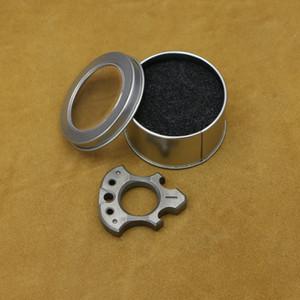 أندي Frankart SFK إصبع واحد حلقة TC4 التيتانيوم في الهواء الطلق الإبزيم جيب متعددة الوظائف أداة فتاحة زجاجات للدفاع عن النفس، النوافذ المحطمة
