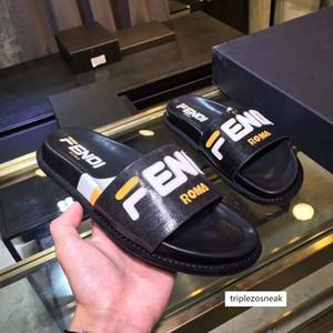 20ss NW FF marchio di 9 stili di moda causale pantofole uomini Tian / fioriture di inizio stampa sandali di scorrimento esterna unisex spiaggia infradito 35-45 1002