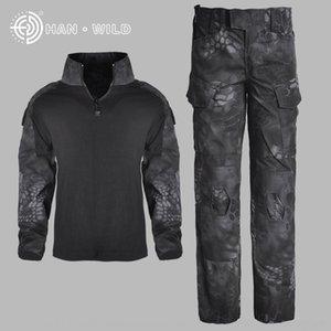 C6m19 Hanye G3 frog infantil sportswear dos homens de rã especial terno manga longa das mulheres e forças físicas sportswear roupas CP camouf R4ubO