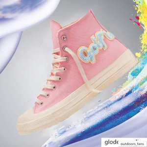 Converse Golf Classic Le Fleur x Chuck 70 Chenille mulheres novas dos homens da estrela skateborad Shoes Moda GLF 1970 Canvas alta rosa tamanho da sapatilha 36-44 JBib #