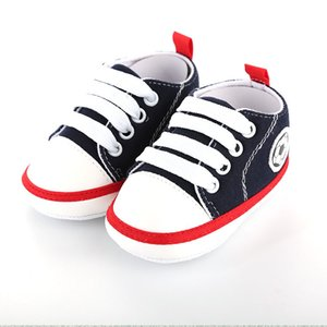 2020 Spring and Autumn New Solid Color Casual Lace Soft Bottom Baby Canvas Shoes Baby Shoes Can Not Fall Toddler