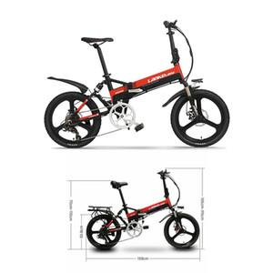 """-S alta qualidade 20"""" Electric Folding bicicleta 48V 400W Motor 13AH L'G bateria / Ebike Bicicleta elétrica com Suspensão traseira"""