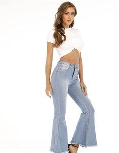 Slim Fit Skinny Jeans taille haute Pantalon Femmes Casual Wide Leg Jeans évasés Desigenrs Femmes longues