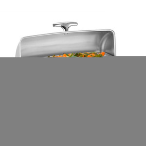 Clamshell Stainless Rectangular Steel Deluxe Chafer Chafing Dish Sets 8 QT Full Size Food Warmer Tray for Hotel Party Wedding US Stock