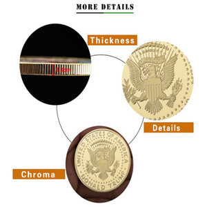 Hot Gold American Eagle commemorative coin, gold-plated collection commemorative coin, exquisite collection gift coin