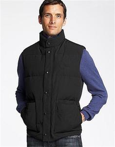 2020 Зимняя куртка Мужчины вниз жилет жилет Homme Gilet вниз жилет пуховик Jassen Expedition Parka Верхняя одежда Doudoune Жилеты De Designer