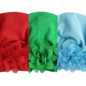 Новых принадлежностей Baby детского шифон сплошного цвета Hat пуловеры пуловеры крышка милый ребенок 11 цвета шлем DYmfX