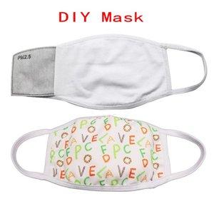 DHL-Schiff! Blanks Sublimation Gesichtsmaske Erwachsene Kinder mit Filter Tasche kann PM2.5 Dichtung Staub Prevention Put Für DIY Transferbild