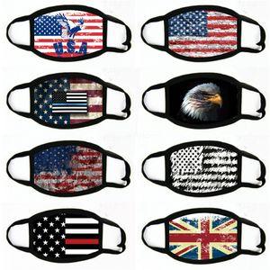 Взрослый Универсальная маска Fasion Флаг печати Маска Dust-Proof Wasale Adjustale Mask # 110