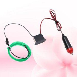 3M Flexible Neon Light Car EL Wire Rope Tube LED Strip Waterproof Car Decor Lamp (Green)