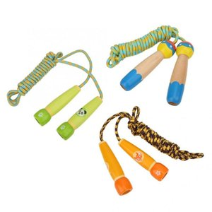 3m niños de los niños saltar la cuerda de madera Deportes Niños Ejercicio Actividad de entrenamiento de salto de cuerda diversión PE fitness