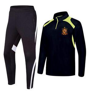 Jacket respirável da Espanha Futebol ClubTeam Men Training Roupa Basketball Futebol Correndo Sports Wear Golf Casual Wear