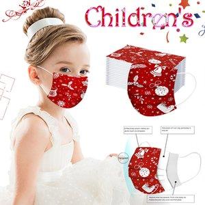 Weihnachten Einweg Kinder Masken 3 Ply Breath Staub-Luft-Anti-Pollution Kind Gesichtsmaske Mund Masken für Jungen-Mädchen