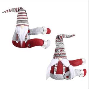 Curtain Bambola Bambola nastro cortina di Natale Hanging Gifts Ornaments banda di Babbo Natale per Finestra di Natale Home Decor Supplies LSK811