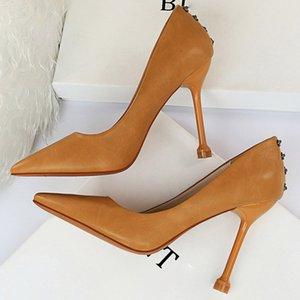 2020 Nova Mulheres 10,5 centímetros de salto alto Bombas Nightclub luxo elegante Senhora Salto Alto scarpins amarelo Prom Jeans Vestido Fetish Shoes