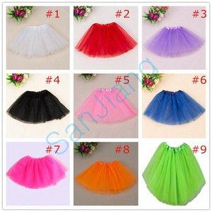 Mode coloré Tutu jupe au-dessus du genou été plissés Gauzy TUTU Mini Jupes Femmes Filles Party Gauze Dress Ballet Jupe 16 couleurs E361 0cvi #
