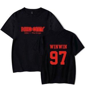 NCT 127 Tshirt Мужская тенниска печати NEO CITY Tshirt WIN WIN YUTA MARK Jungwoo с коротким рукавом Футболки Летняя одежда