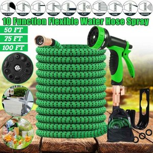 Upgraded Expandable Garden Water Hose+10 Function Spray Nozzle for watering plants cleaning the yard washing Car 50 75 100FT
