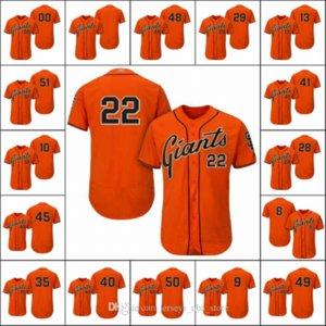 São FranciscoGiants Men # 28 Buster Posey Coleção 22 Will Clark 35 Giants Brandon Mulheres Youth Jogador Flex base personalizado Jersey