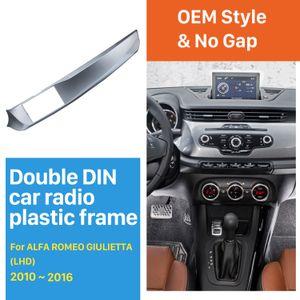 2DIN Araba Radyo Kaplaması 2010-2016 Alfa Romeo Giulietta Sol Eli sürücü (LHD) Stereo Kurulum Trim Paneli Çerçeve Kiti için
