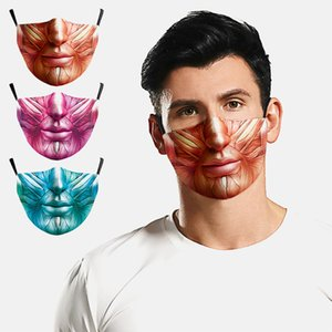 2020 heißen Verkauf Halloween cosplay Gesicht Biden Maske 3D Farbe gedruckt Baumwolle Art und Weise maskiert lustig waschbar atmungsaktiv filedsmask mit 2 Filter