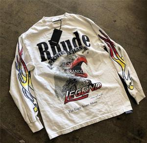 Rhude x Maxfield LA AUFMASS T-Shirt Männer Frauen 1: 1 Qualitäts-Langarm Rhude x Maxfield LA T-Shirt Rhude T-Shirt T200420