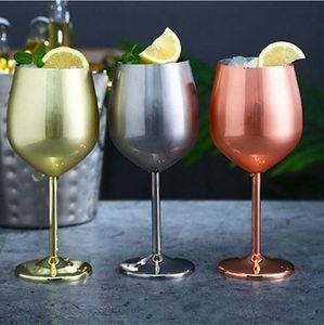 Verres à vin d'or en acier inoxydable vin Glasse Champagne Goblet Lunettes créativité Cocktail Coupe du Parti Barware Accueil Boire Ustensiles LSK943