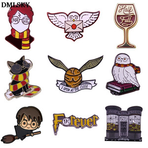 DMLSKY Magic schools Hogwarts Students Pins Enamel Pins and Brooches Lapel Pin Backpack Badge Clothing Decoration Gifts M4609