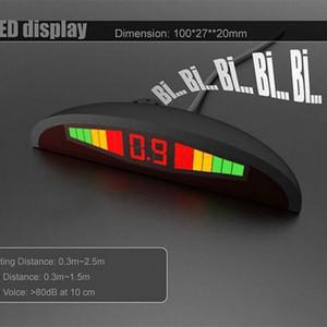 kablo fiş siyah araba dvr ile 4 sonda hilal ekran geri radar LCD renkli ekran bip