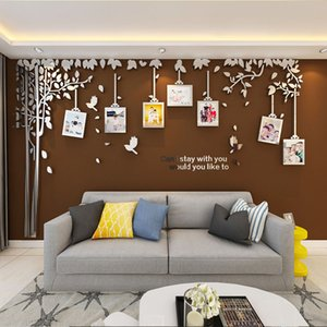 Photo Frame 3D Wall Stickers Acrylic Tree Vine Decals Modern Art Mural Sticker Living Room Sofa TV Home Background Decor 5 Sizes