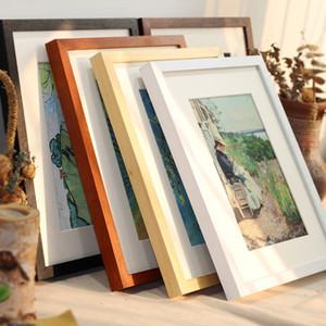 Preto, Branco, Madeira Cor Photo Frame Imagem A4 A3 quadro de madeira natureza sólida Hardware de montagem em parede incluído sem cartão