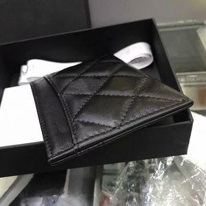 100% cuero genuino de la vaca Etiqueta de identificación de mini cartera de cuero suave tarjeta de crédito bancaria Caja de regalo de múltiples ranura Caso tarjeta delgado