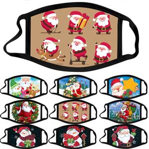 New arrival Merry Christmas designer face mask men women Christmas adult mask cartoon pattern cloth mask washable dust masks
