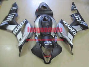 Gift Injection fairings kits for matte blk white Honda CBR600RR F5 fairing set 07 08 CBR 600 RR 2007 2008 motorcycle bodywork cowlings parts