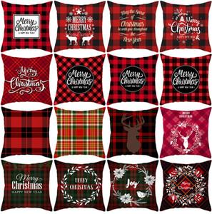 Taies Joyeux Noël Décorations de Noël pour la maison Sofa Pillow cas Noel Cadeaux de Noël Navidad Noël Cristmas Décor