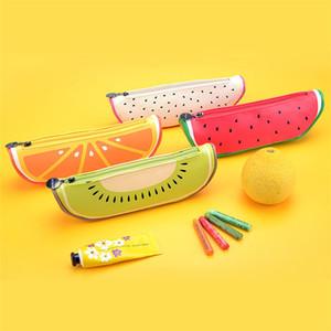 Neuheit Fruchtfederbeutel Bleistift-Kasten-Geldbeutel-Silikon-bewegliche Feder-Geldbeutel-Mappen-Schlüssel Eearphone Beutel-Taschen-Schlüsselanhänger Förderung-Geschenk IB283