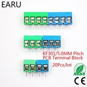 20pcs / lot KF301-5.0-2P KF301-3P KF301-4P Pas 5.0mm Épingle 2P 3P 4P vis Bornier PCB connecteur bleu vert