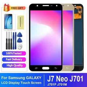 5.5 pulgadas para el montaje Samsung Galaxy Neo J7 Pantalla LCD J701 J701F J701M J701MT pantalla táctil LCD Piezas de recambio