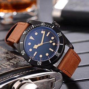 Tudorrr Luxo Mens Watch Aço Inoxidável Automatic Black Heritage BAY ROTOR MONTRES Designer de Homens color04 Relógios de pulso mecânicos