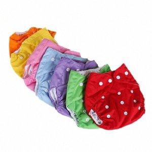 Bebé pañales lavables reutilizables panales del bebé del verano de invierno Pañales cuadrícula / algodón bragas del entrenamiento de pañal de tela jDpi #