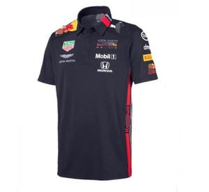 f1 takımı versiyonu araba fan yarış takım elbise erkek yaz beyaz kısa kollu tişört araç fanı araba çabuk kuruyan giysiler tulum özelleştirme