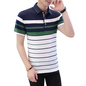 Polo Uomo Slim Fit Mens casuale Polo Lettera ricamo Estate Polo Uomo traspirante Outwear