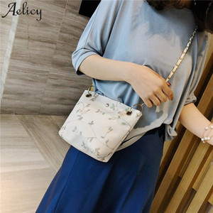 Aelicy Women Bags Flower Lace Embroidery Shoulder Bag Chain Messenger Bag Women Carteras Mujer De Hombro Y Bolsos Drop Ship 2019 aozK#