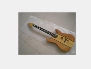 Custom Made Unfinished Guitar Natural Wood Neck Thru Mahogany Body unassembled Electric Guitar kits
