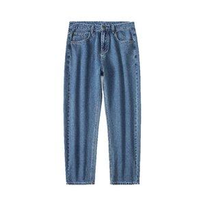 Jeans for Men 2020 Wide Leg Denim Cotton Loose Straight Casual Pants Ankle Length Pants Spring Autumn Blue Grey Black 5 Colors
