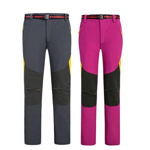 Outdoor Winter Fleece Thermal Softshell Pants Women Men Hiking Camping Waterproof Mountain Fishing Pants