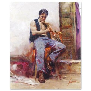 "Pino ""Music Lover CP"" Home Decoration Handcrafts  HD Print Oil Painting On Canvas Wall Art Canvas Pictures 200923"